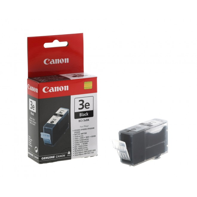 Canon Genuine BCI-3eBK Black Ink Cartridge for S750/S6300/S600/S530D/S520