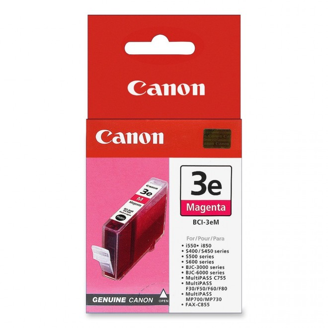 Canon Genuine BCI-3eM Magenta Ink Cartridge for S750/S6300/S600/S530D/S520
