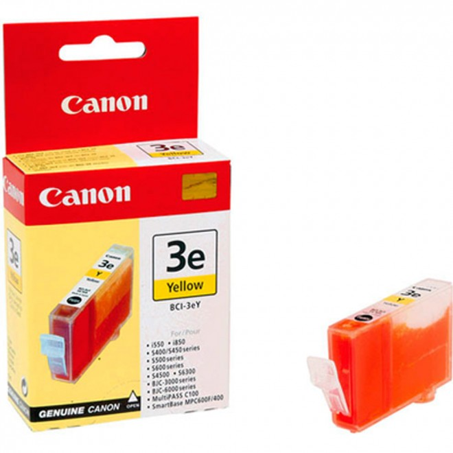 Canon Genuine BCI-3eY Yellow Ink Cartridge for S750/S6300/S600/S530D/S520