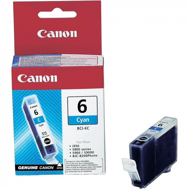 Canon Genuine BCI-6C  Cyan Ink Cartridge for S9000/S900/S830D/S820D/S820/S800