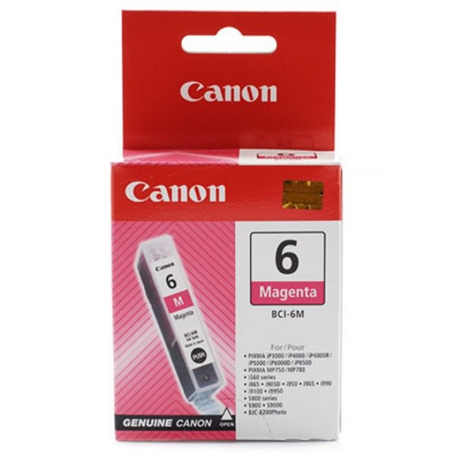 Canon Genuine BCI-6M Magenta Ink Cartridge for S9000/S900/S830D/S820D/S820/S800