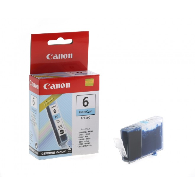 Canon Genuine BCI-6PC Photo Cyan Ink Cartridge for S9000/S900/S830D/S820D/S820