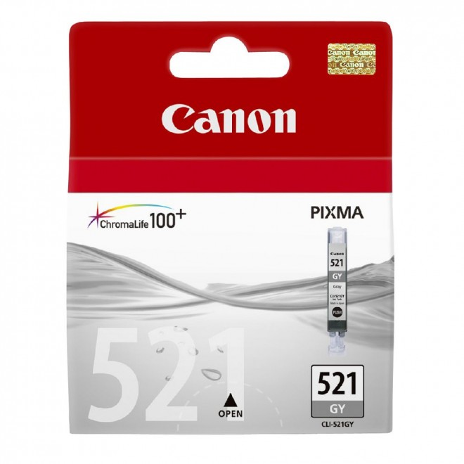 Canon Genuine CLI-521GY Grey Ink Cartridge for MP980/MP990
