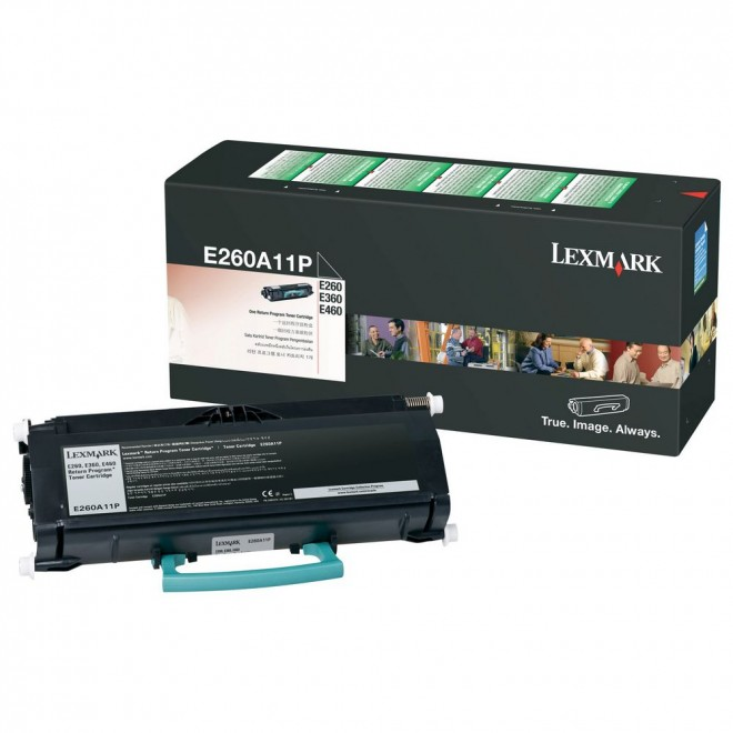 Lexmark Genuine E260A11P Black Toner Cartridge for E260/E260D/E360/460/E460DW