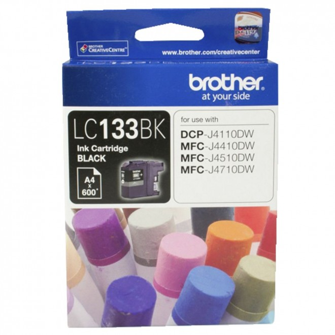 Brother Genuine LC-133BK Black Ink Cartridge for MFC-J870DW/6920DW/6720DW/J172W
