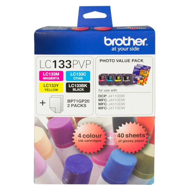 Brother Genuine LC-133PVP Photo Value Pack for MFC-J870DW/J650DW/J475DW/J470W