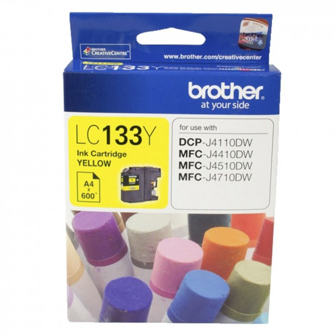 Brother Genuine LC-133Y Yellow Ink Cartridge for MFC-J870DW/6920DW/6720DW/J172W