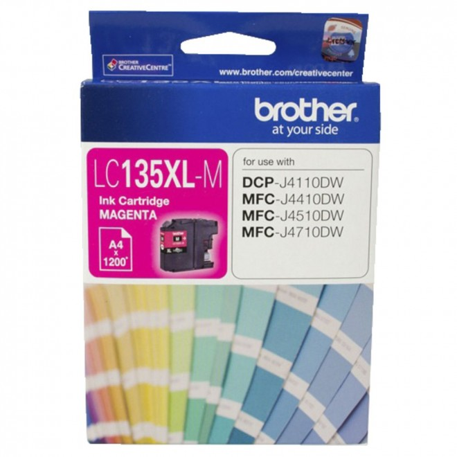 Brother Genuine LC-135XLM Magenta Ink Cartridge for DCP-J4110DW/J4410DW/J4510DW