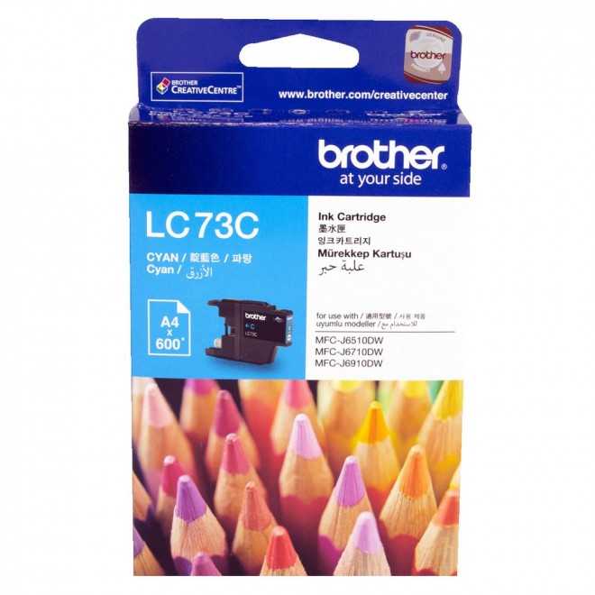 Brother Genuine LC-73C Cyan Ink Cartridge for MFC-J825DW/6910DW/6710DW/6510DW