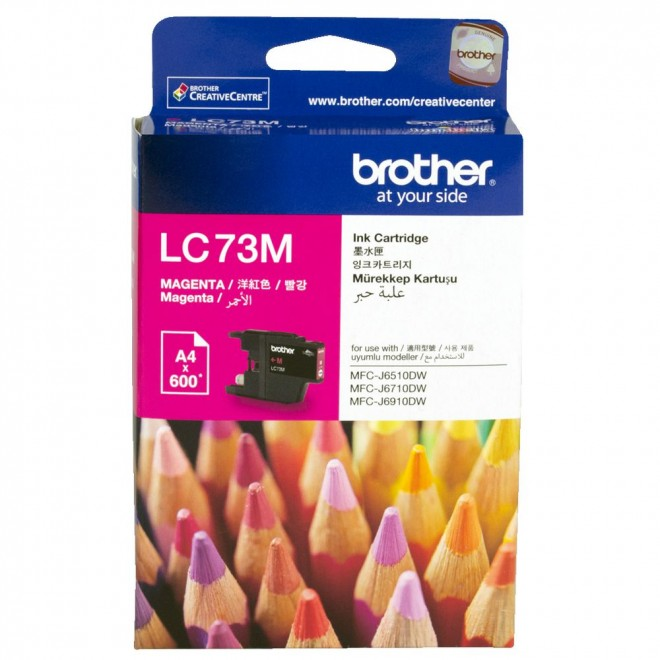 Brother Genuine LC-73M Magenta Ink Cartridge for 825DW/6910DW/6710DW/6510DW