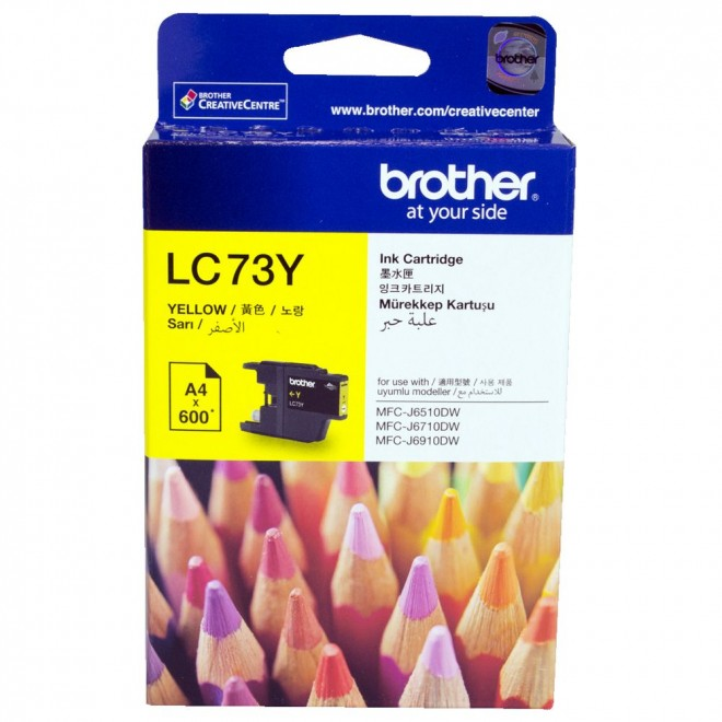 Brother Genuine LC-73Y Yellow Ink Cartridge for MFC-J825DW/6910DW/6710DW/6510DW
