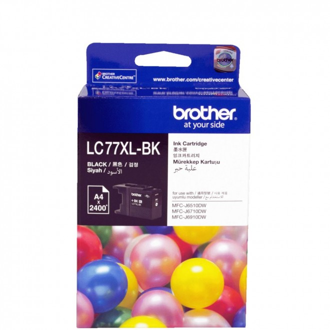 Brother Genuine LC-77XLBK Black High Yield Ink Cartridge for MFC-J6910DW/6710DW
