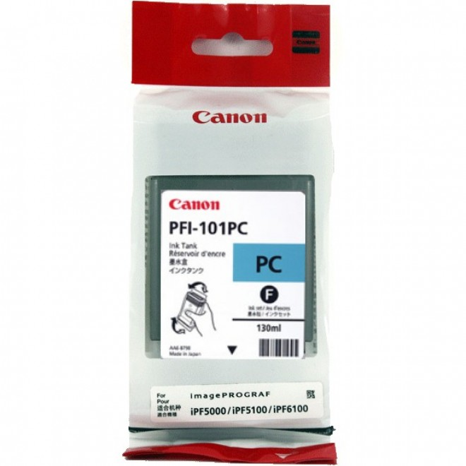Canon Genuine PFI-101PC Photo Cyan Ink Cartridge for IPF6200/IPF6100/IPF6000S