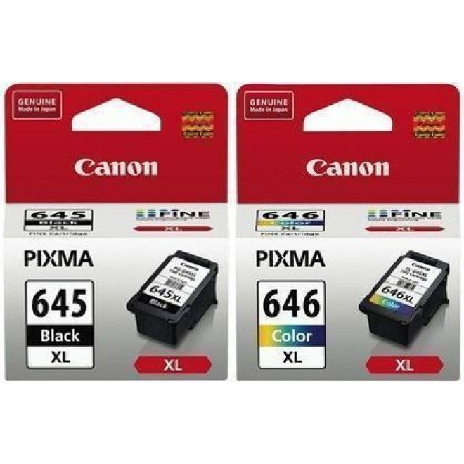 Canon Genuine PG-645XL+CL-646XL High Yield Combo Pack for MG2965/MG2960/MG2560