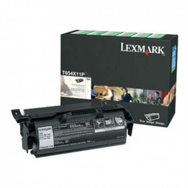 Lexmark Genuine T654X11P Black Extra High Yield Toner Cartridge for T654/T656
