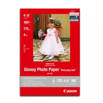 "Canon Genuine GP-501 Glossy Photo Paper 4""x6"" 100 Sheets 170GSM"